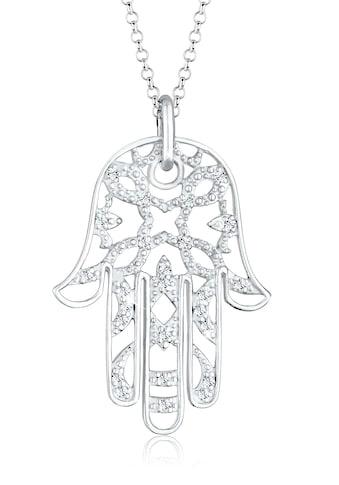 Elli Statementkette »Hamsa Hand Swarovski® Kristalle 925 Silber« kaufen