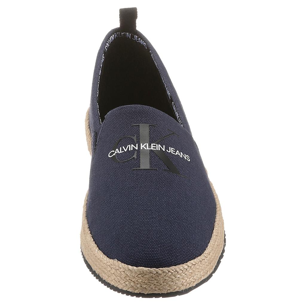 Calvin Klein Espadrille, mit modischer Bastumrandung