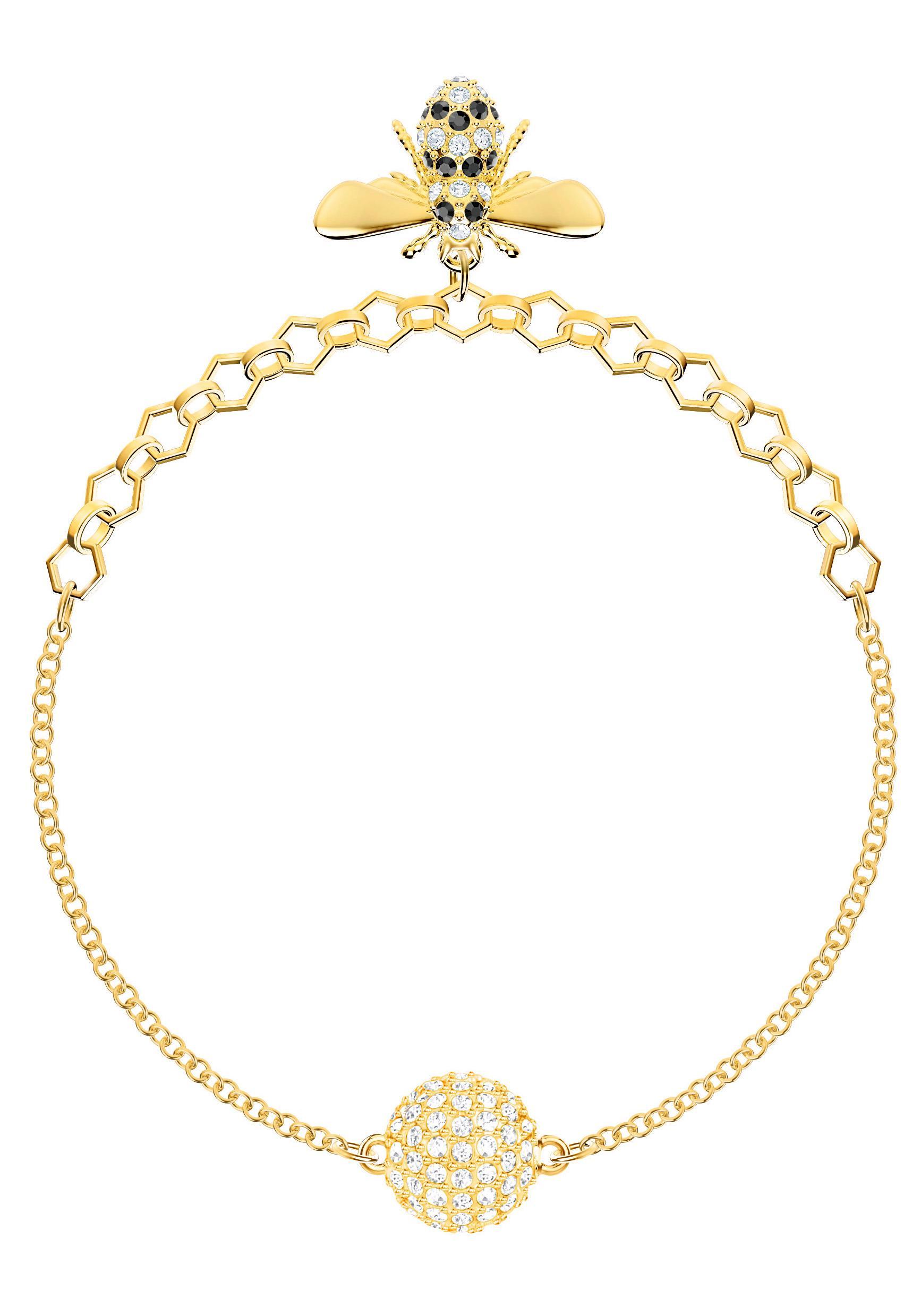 Swarovski Armband Biene Swarovski Remix Collection Bee schwarz vergoldet 5380077 | Schmuck > Armbänder > Goldarmbänder | Swarovski