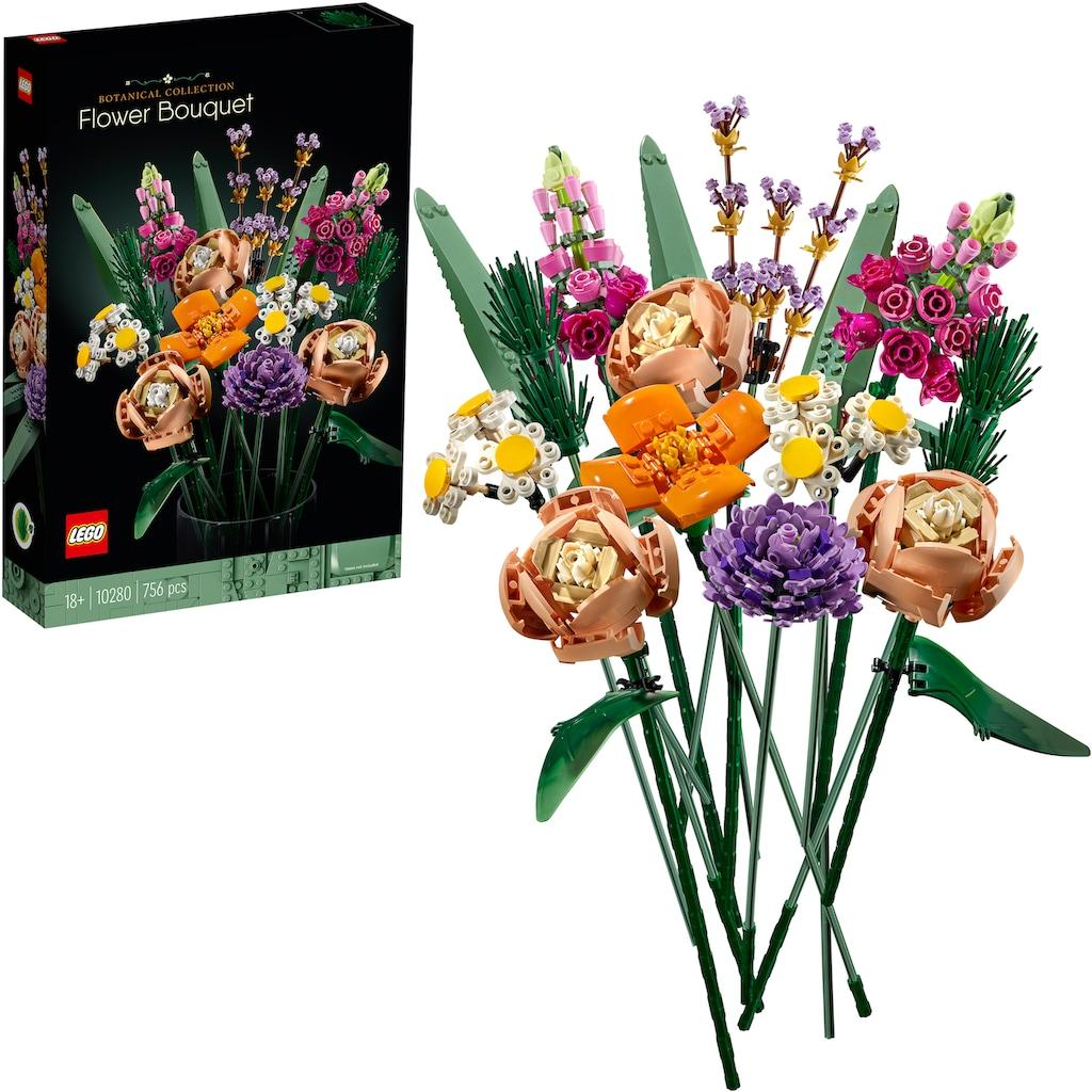 LEGO® Konstruktionsspielsteine »Blumenstrauß (10280), LEGO® Creator Expert«, (756 St.), Made in Europe