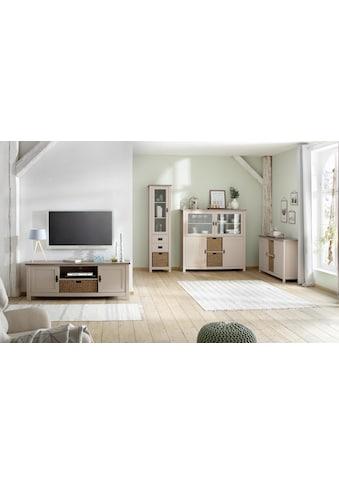 Home affaire Sideboard »Georgina«, mit 2 Türen, 2 offenen Fächer und 2 Körben, Breite 140 cm kaufen