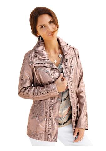 Mainpol Lederimitat - Jacke mit effektvoll glänzender Rosé - Metallics - Beschichtung kaufen