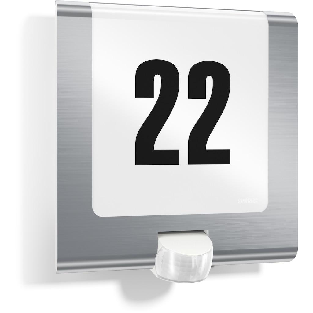 steinel Außen-Wandleuchte »L 220 LED«, LED-Board, 1 St., Warmweiß, 180° Erfassungsbereich, max. 10 m Reichweite, Zeiteinstellung von 60 Sek. - 15 Min., Schlagfestigkeit nach IK07, regenwassergeschützt
