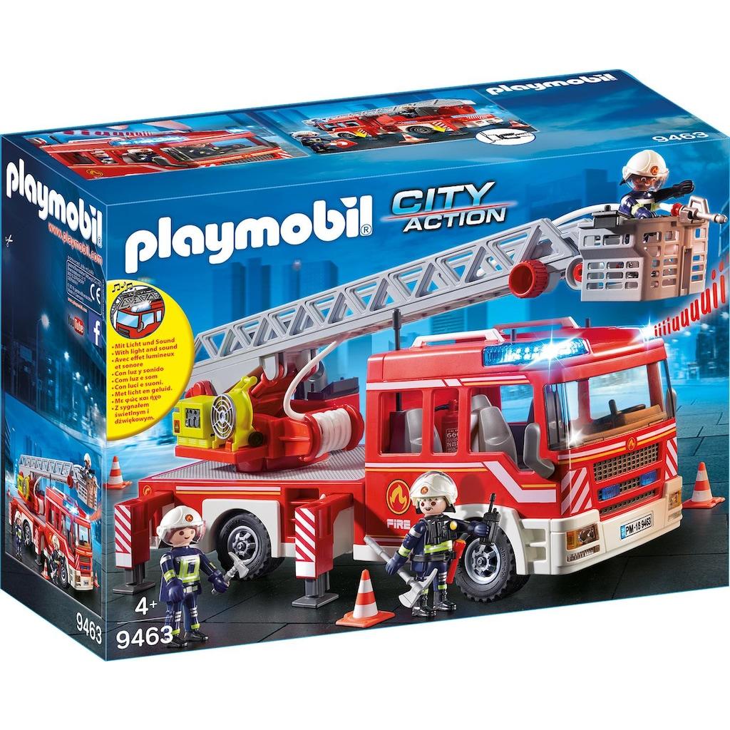 Playmobil® Konstruktions-Spielset »Feuerwehr-Leiterfahrzeug (9463), City Action«, Made in Germany
