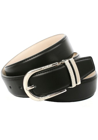 Anthoni Crown Ledergürtel, mit dekorativer Metallschlaufe, Glattleder kaufen