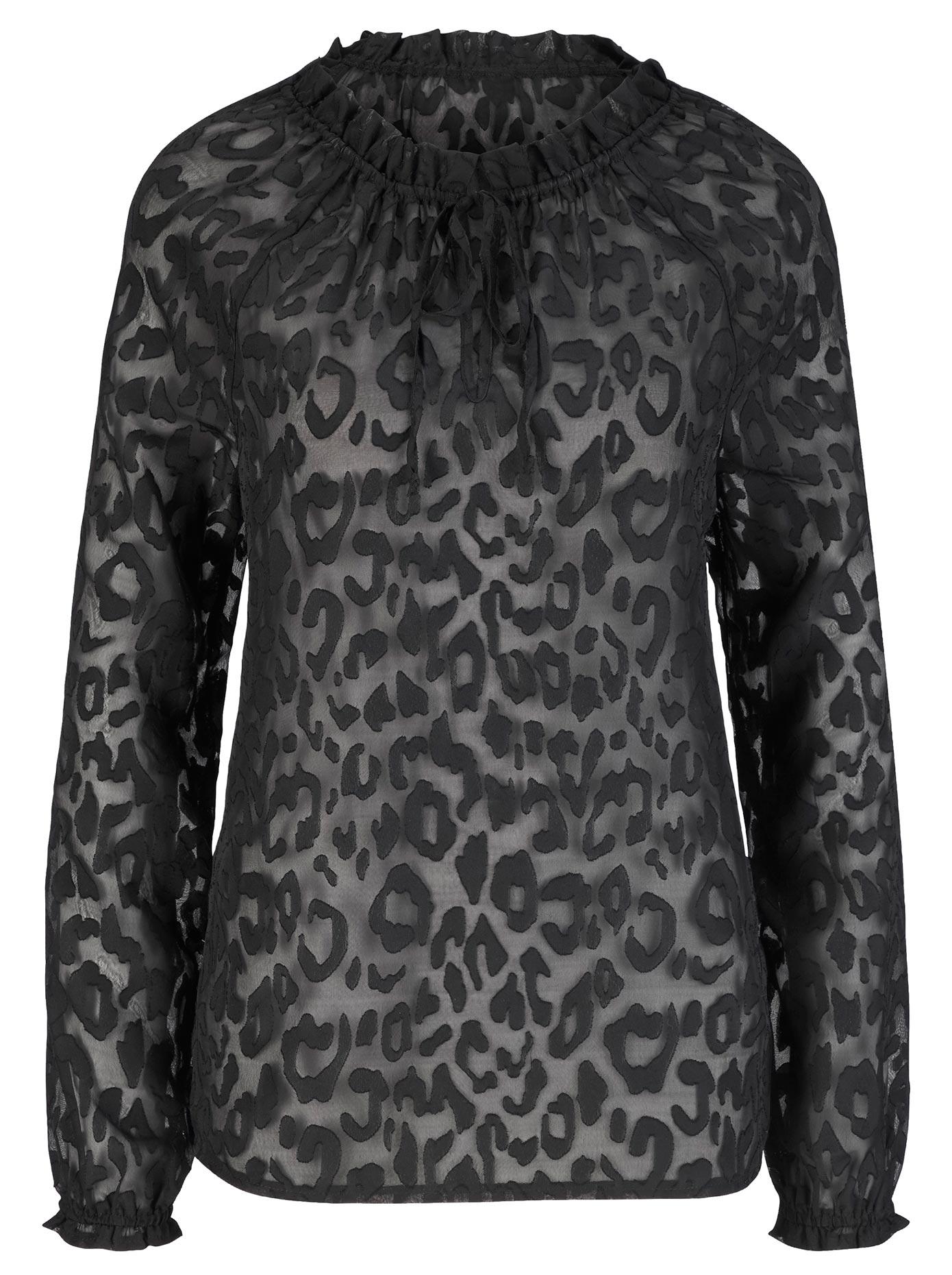 création L Bluse in gefährlich schönem leicht transparentem Leo-Ausbrenner