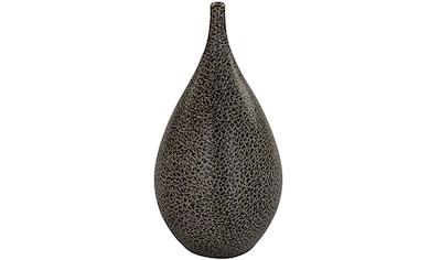 Fink Dekovase »FAVORA«, aus Porzellan, mit lederähnlicher Oberfläche und Echtgold-Dekor kaufen