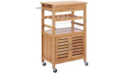 Küchenrollwagen »Bambus«, 62 x 36 x 88 cm kaufen