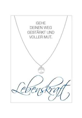 HERZ-KARTE Silberkette »Lebenskraft«, rhodiniert mit Baum des Lebens, 925/- Sterlingsilber kaufen