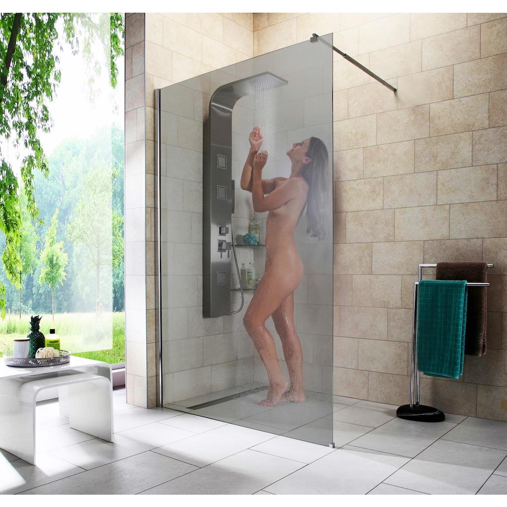 welltime Duschwand »Duschabtrennung«, Breite 120 cm, Grauglas