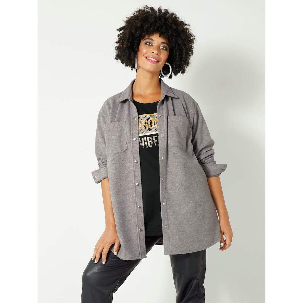 Angel of Style by HAPPYsize Klassische Bluse, mit Brusttaschen
