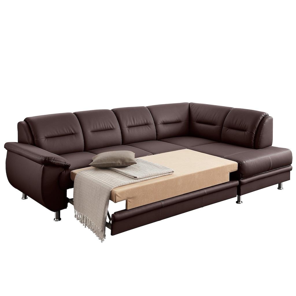 sit&more Ecksofa, wahlweise mit Bettfunktion