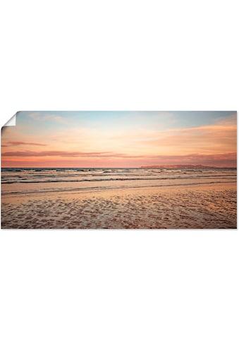 Artland Wandbild »Sonnenuntergang im Watt«, Strand, (1 St.), in vielen Größen &... kaufen