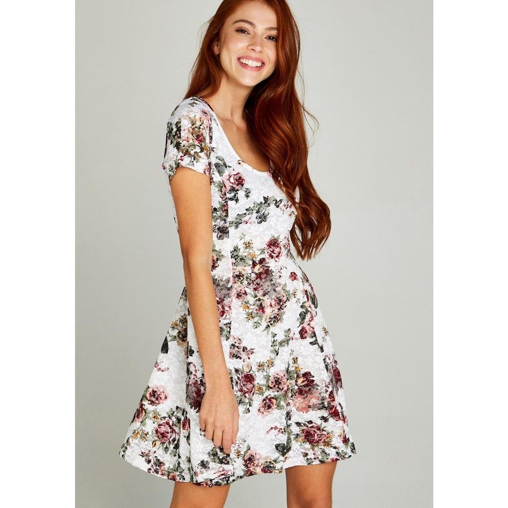 Apricot Spitzenkleid »Roses Lace Skater Dress«, mit Rosendruck