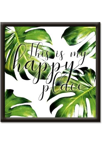 Artland Wandbild »Dies ist mein Platz zum glücklich sein«, Sprüche & Texte, (1 St.) kaufen