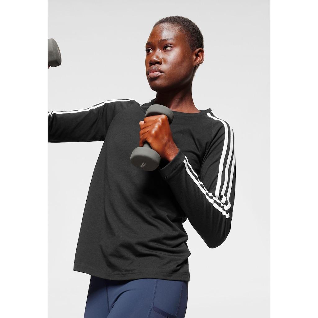 adidas Performance Langarmshirt »3 STRIPES LONGSLEEVE«