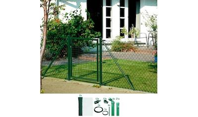 GAH ALBERTS Set: Maschendrahtzaun 150 cm hoch, 50 m, grün beschichtet, zum Einbetonieren kaufen
