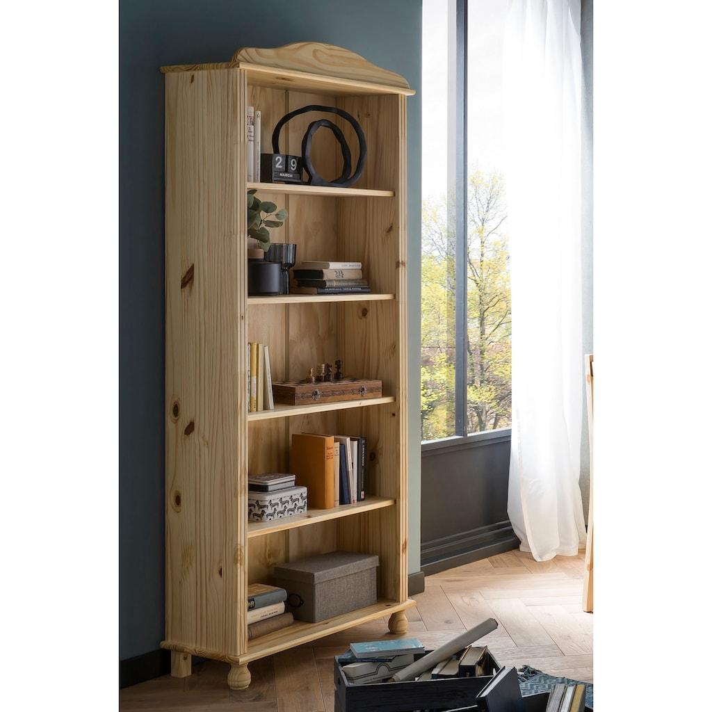 Home affaire Bücherregal »Chur«, mit gedrechselten Füßen