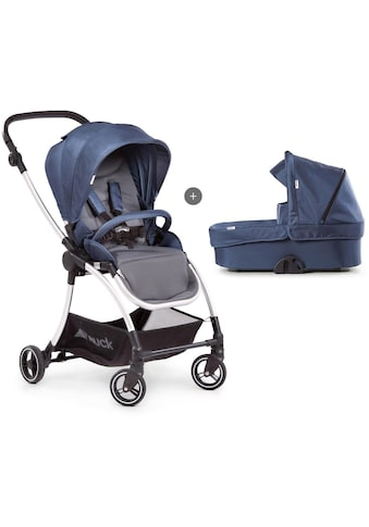 Hauck Kombi-Kinderwagen »Eagle 4S Duoset, denim/grey«, mit Babywanne, Fußsack und... kaufen