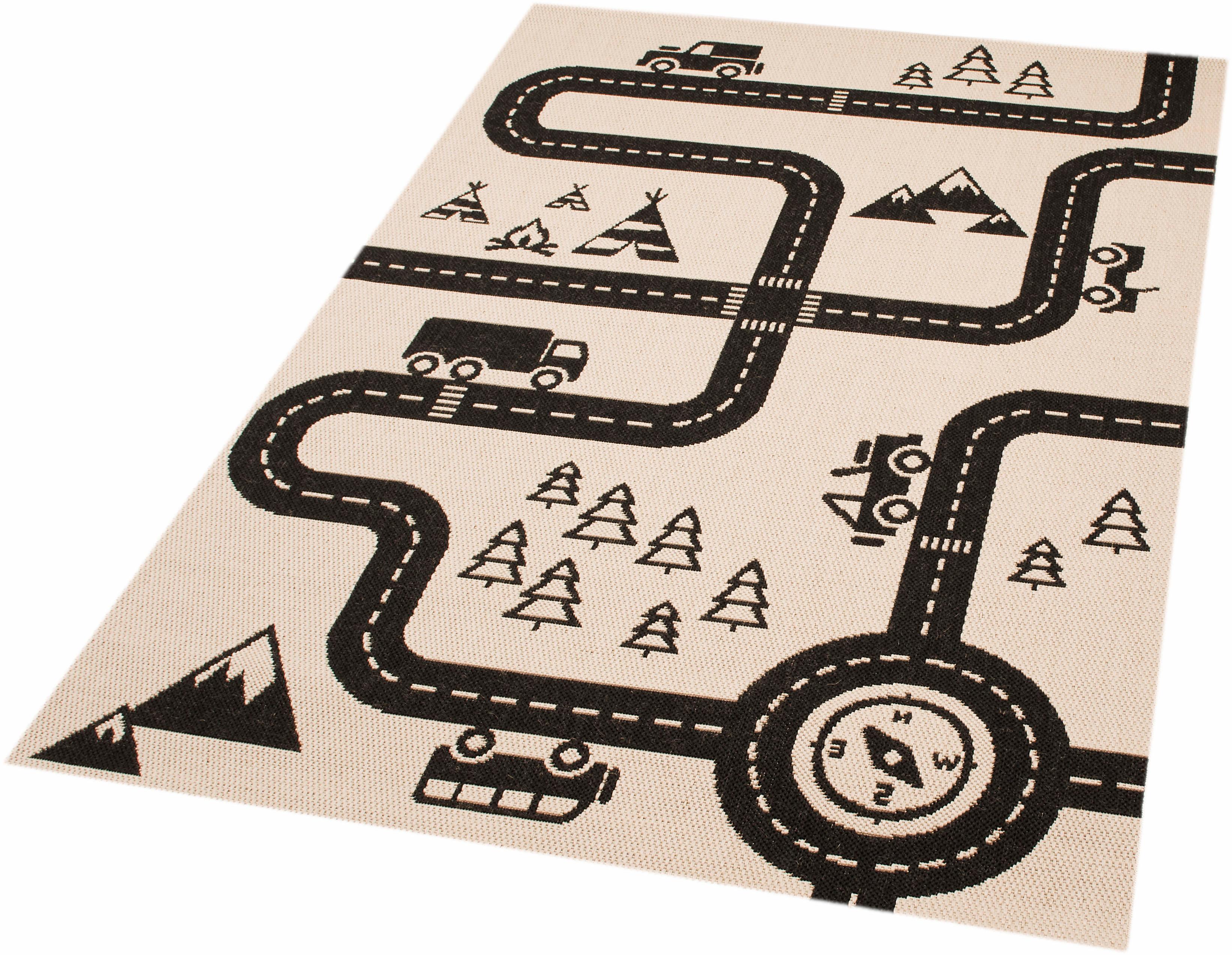 Kinderteppich Road Map Charly Zala Living rechteckig Höhe 4 mm maschinell gewebt