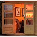 KONIFERA Set: Gartenhaus »Schloßsee 8«, BxT: 704x333 cm, mit Anbau inkl. Seiten- und Rückwand