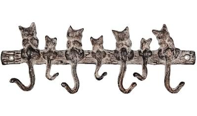 Ambiente Haus Wandhaken »Haken aus Gusseisen - 7 Katzen« kaufen