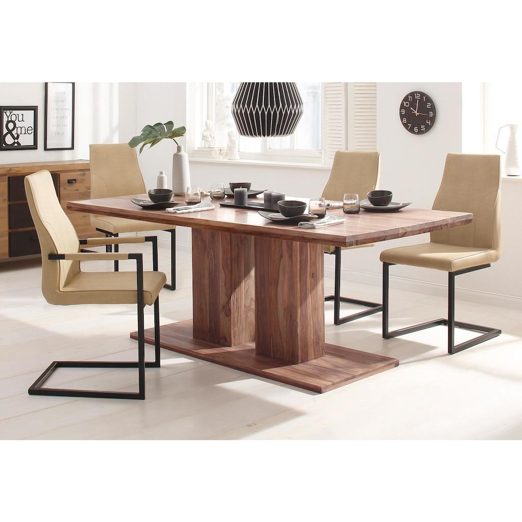 Home affaire Esstisch »Kacy«, mit sichtbarer Holzmaserung, in 2 verschiedenen Tisch Breiten