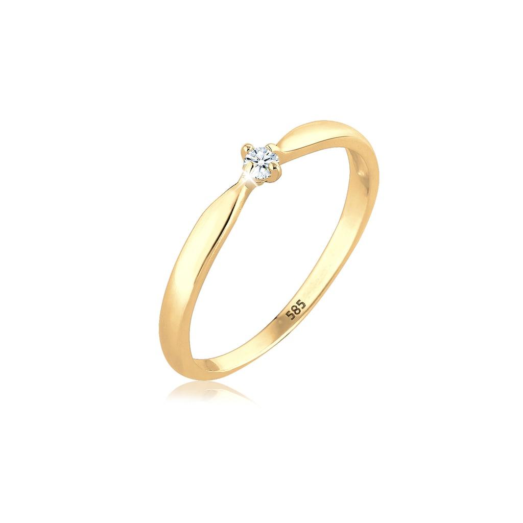 Diamore Verlobungsring »Verlobung Welle Diamant (0.03 ct.) 585 Gelbgold«