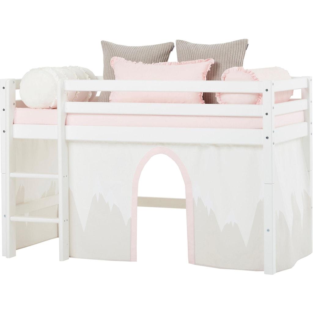 Hoppekids Hochbett »Winter Wonderland«, (Set), umbaubar in ein Einzelbett
