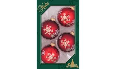 """Krebs Glas Lauscha Weihnachtsbaumkugel """"Schneestern"""" kaufen"""
