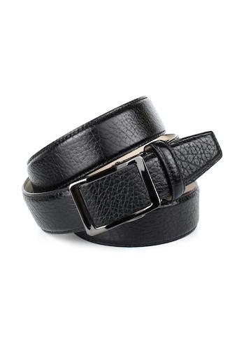 Anthoni Crown Ledergürtel, mit schwarzer glänzender Gürtelschließe kaufen