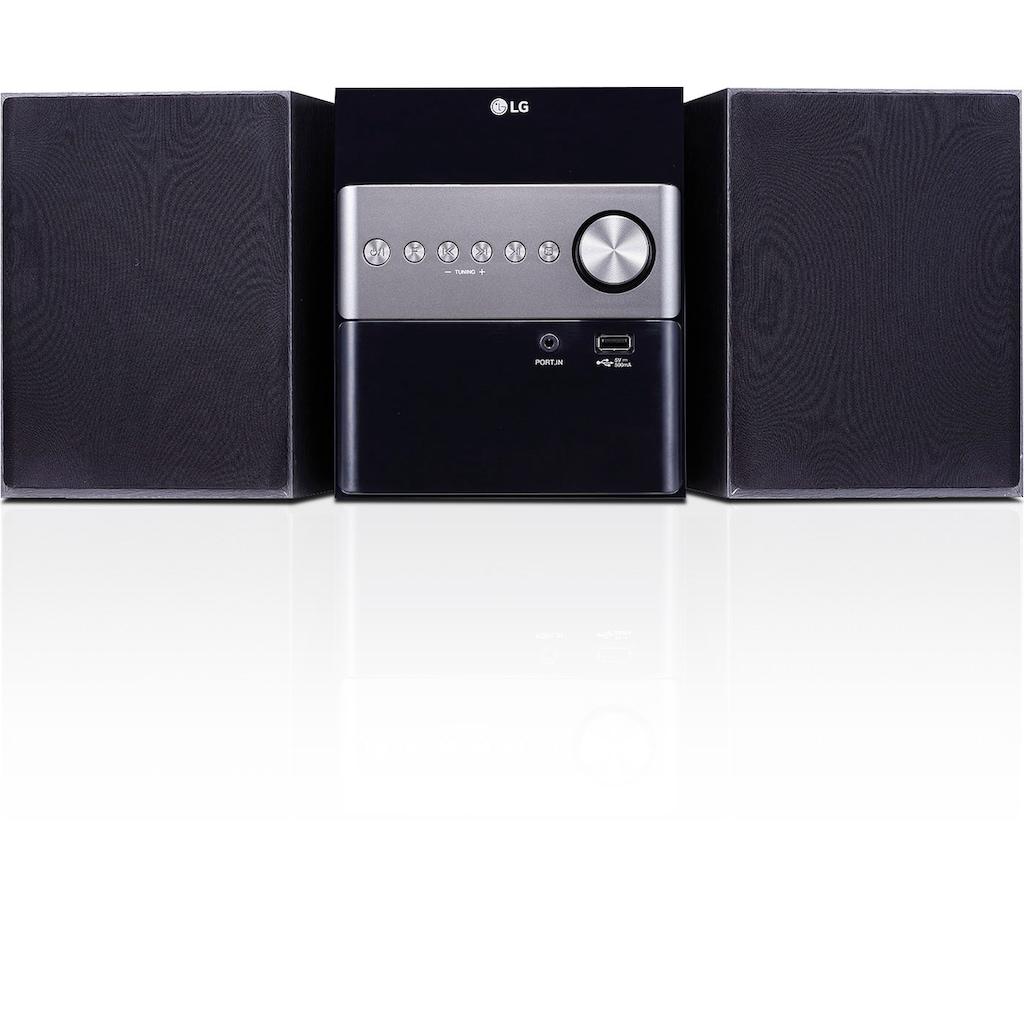 LG Microanlage »CM1560DAB«, ( Digitalradio (DAB+) 10 W)