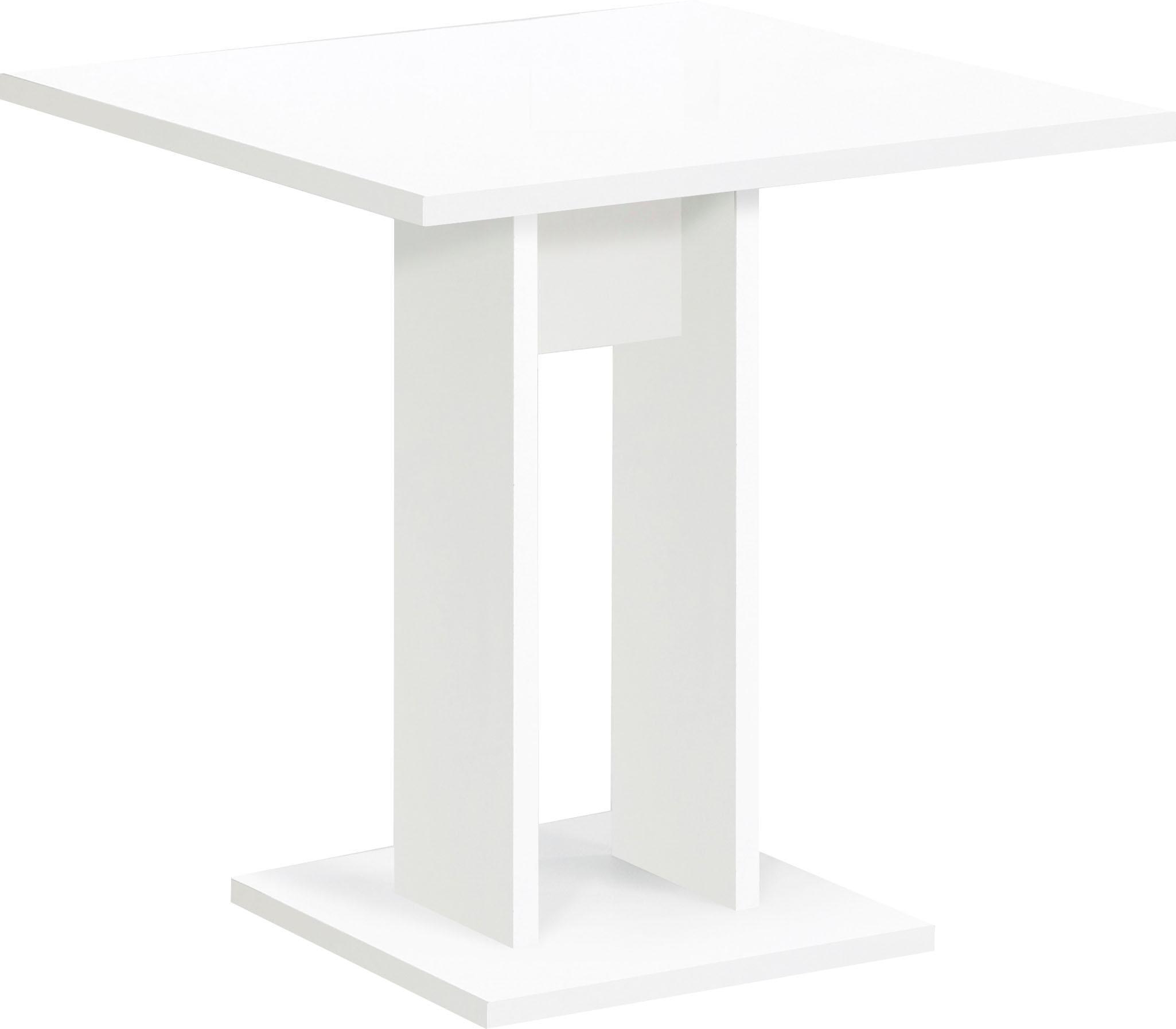 FMD Esstisch, Breite 70 cm weiß Esstisch Esstische rechteckig Tische