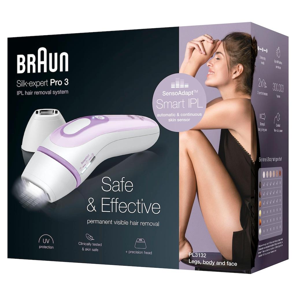 Braun IPL-Haarentferner »Silk·Expert Pro 3 PL3132«, 300.000 Lichtimpulse