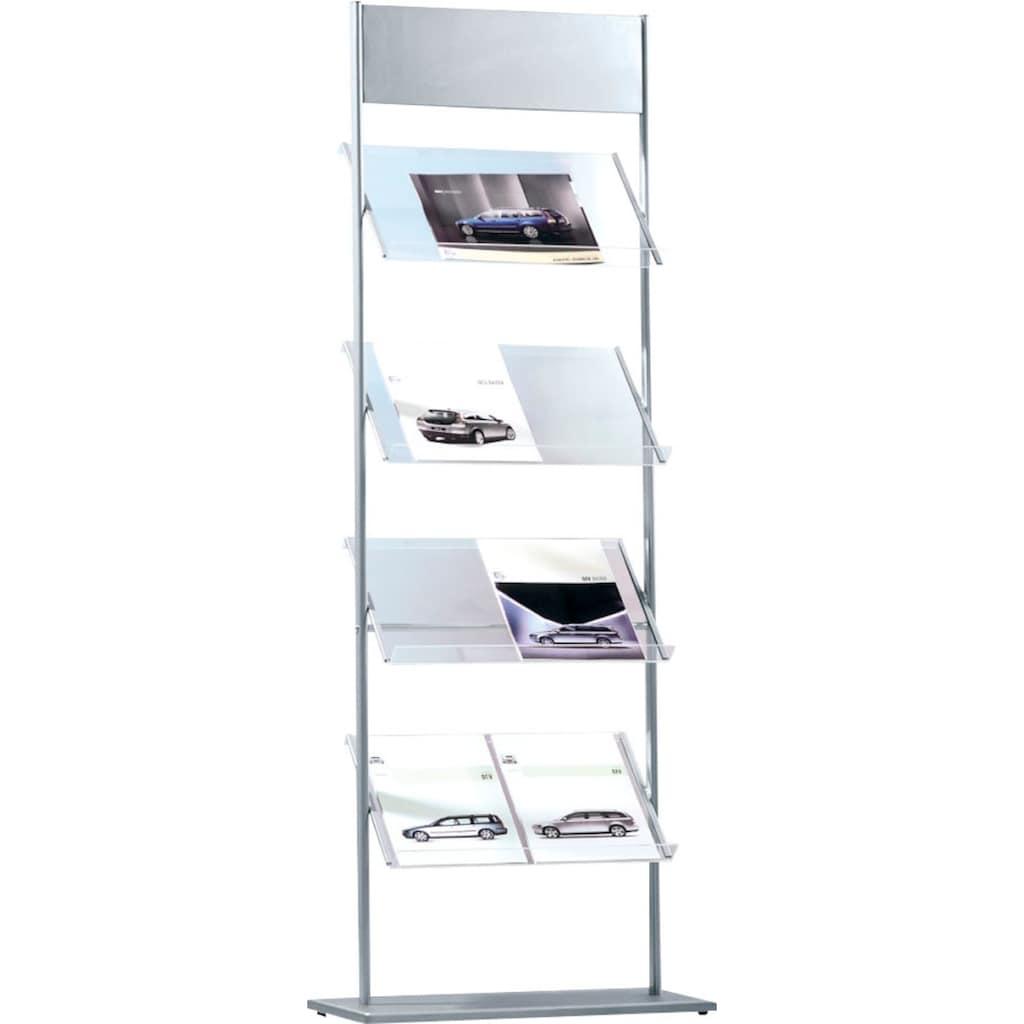 Schneider Ablageregal »Prospektständer Jil«, Transparente Ablagen aus Acryl