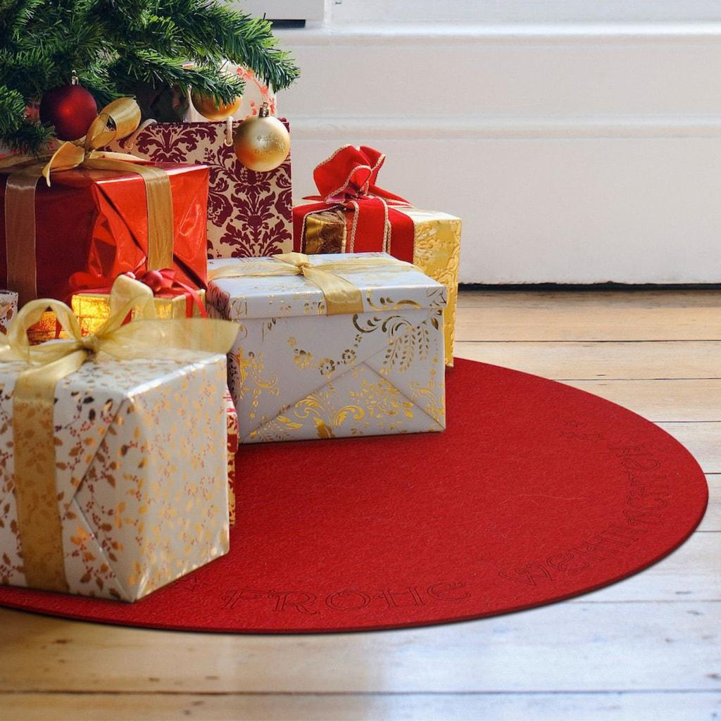 Wall-Art Tischdecke »Filzdecke Frohe Weihnachten«, (1 St.)