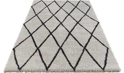 ELLE Decor Hochflor-Teppich »Abbeville«, rechteckig, 32 mm Höhe, Langflor, Skandi Look, pastell Farben, Wohnzimmer kaufen