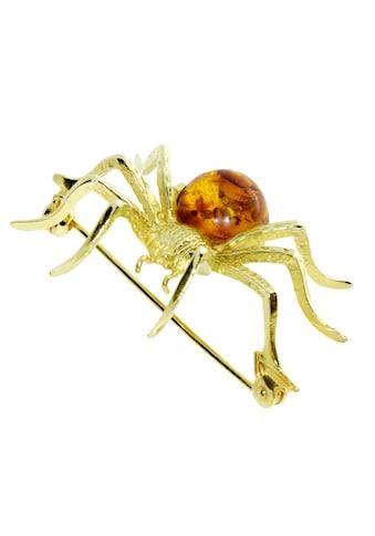 OSTSEE - SCHMUCK Brosche »Spinne 40 x 36 mm Silber 925/000, vergoldet Bernstein« kaufen