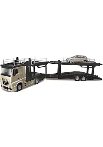 Bburago Spielzeug-Transporter »StreetFire MB Actros Autotransporter«, inklusive... kaufen