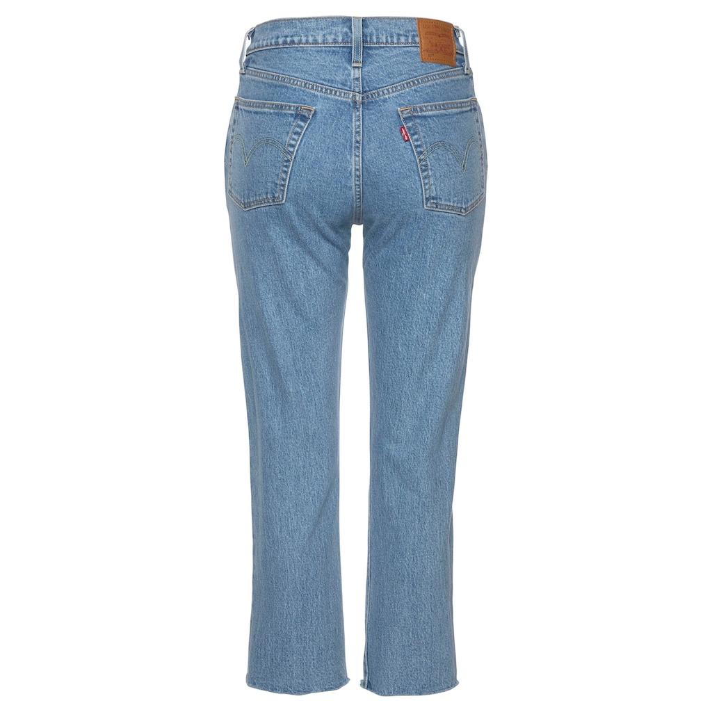 Levi's® Slim-fit-Jeans »501 CROP«, mit offenem Saum
