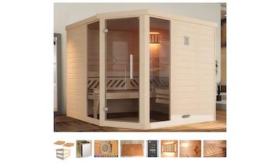 WEKA Sauna »Brevik 2«, 245x195x199 cm, 7,5 kW Ofen mit ext. Steuerung, Fenster kaufen