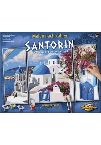 Schipper Malen nach Zahlen »Meisterklasse Triptychon, Santorin - Die Insel in Blau und Weiß«, Made in Germany kaufen
