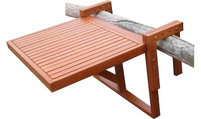 Garden Pleasure Balkonhängetisch »Manila«, Eukalyptusholz, klappbar, 65x60 cm kaufen