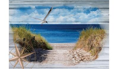 Consalnet Vliestapete »Strand auf den Bretter«, verschiedene Motivgrößen, für das Büro... kaufen