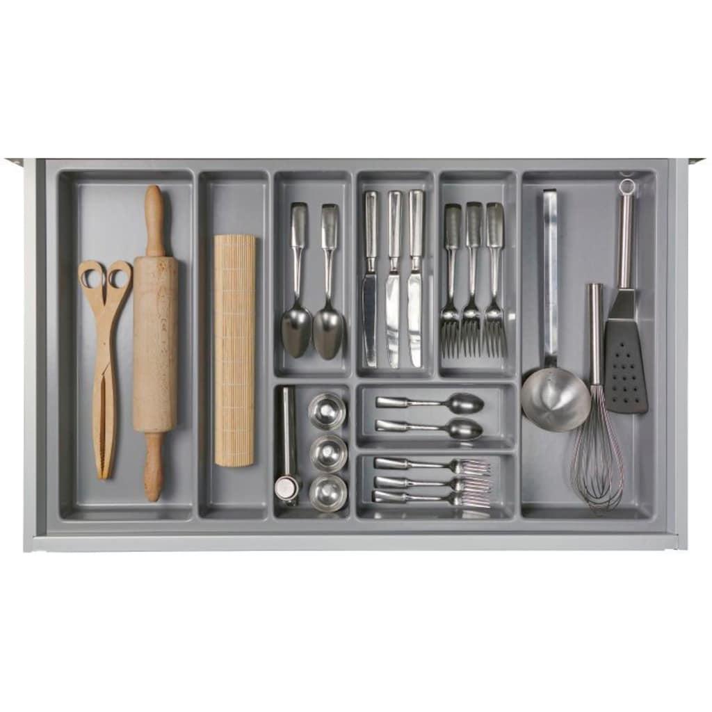 Express Küchen Winkelküche »Scafa«, ohne E-Geräte, vormontiert, mit Vollauszügen und Soft-Close-Funktion, Stellbreite 305 x 185 cm
