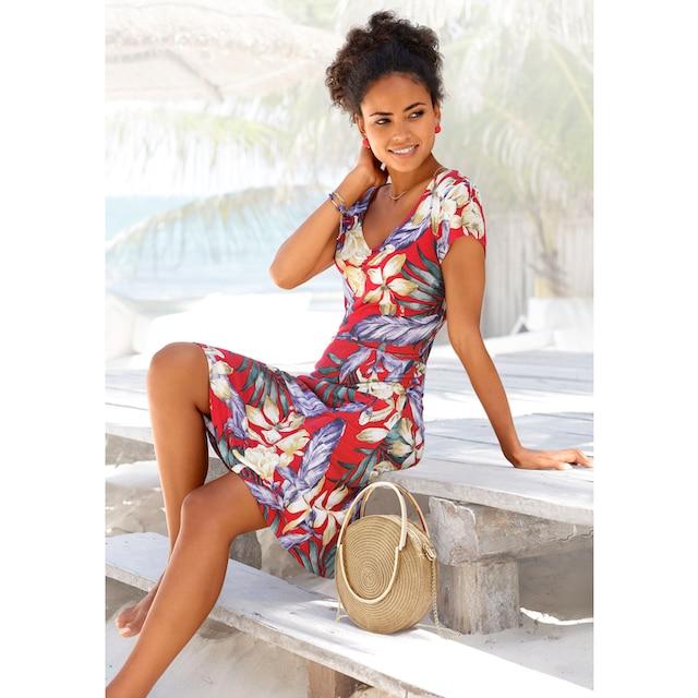Lascana Sommerkleid Mit V Ausschnitt Fur Kaufen Baur