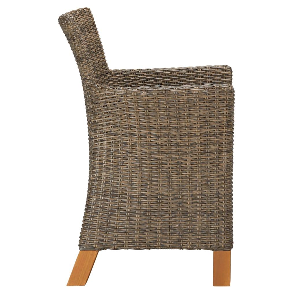 MERXX Gartenmöbelset »Toskana«, (9 tlg.), 4 Sessel, Tisch 110x110x75 cm, Polyrattan/Akazie