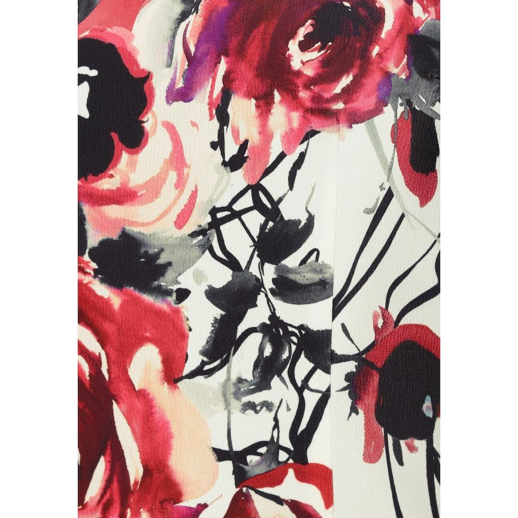select! By Hermann Lange Etuikleid, mit großflächigem Blumendruck