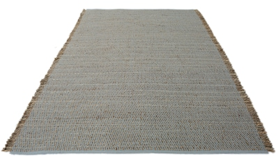 my home Teppich »Mateo«, rechteckig, 12 mm Höhe, in Strick-Optik mit Fransen, Wohnzimmer kaufen