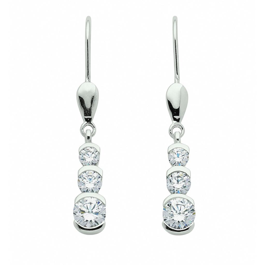 Adelia´s Paar Ohrhänger »333 Weißgold Ohrringe / Ohrhänger mit Zirkonia«, 333 Gold Goldschmuck für Damen
